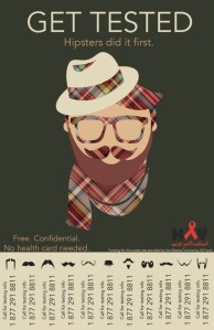 get tested hipster