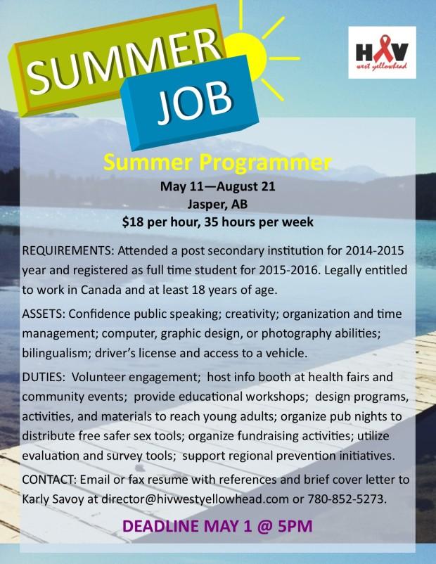 2015 student job posting